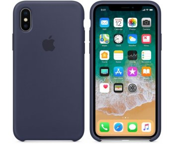 Чехол Apple iPhone X Silicone Case Midnight Blue (MQT32)