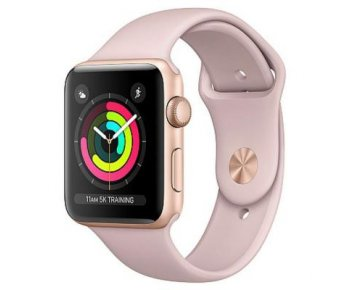 Смарт-часы Apple Watch Series 3 GPS 42mm Gold Aluminum w. Pink Sand Sport B. - Gold (MQL22)